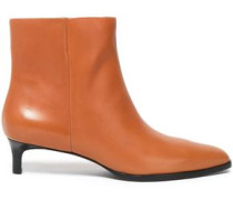 Agatha Leather Ankle Boots Tan