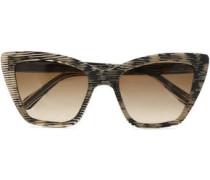 Cat-eye Printed Acetate Sunglasses Black Size --