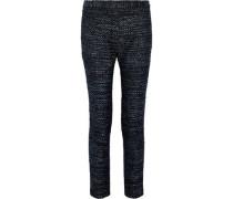 Synopsis Metallic Tweed Slim-leg Pants Black