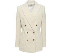 Woman Bianca Double-breasted Cotton-corduroy Blazer Ivory