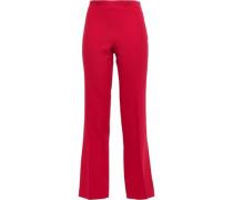 Crepe Straight-leg Pants Red