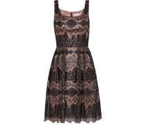 Metallic Corded Lace Dress Black