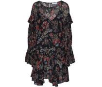 Averen ruffled floral-print chiffon mini dress