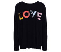 Intarsia-knit Cashmere Sweater Midnight Blue