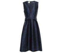 Adelis Striped Satin-jacquard Dress Midnight Blue