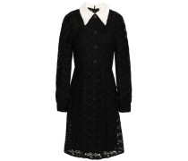 Button-embellished Lace Dress Black Size 0