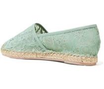 Corded lace espadrilles