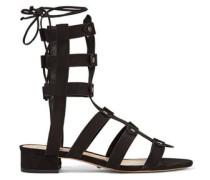 Rae lace-up studded nubuck sandals
