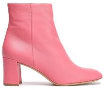 Leather Ankle Boots Bubblegum