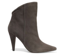 Amy Suede Ankle Boots Gray