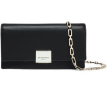 Two-tone Leather Clutch Black Size --