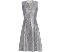 Metallic Corded Lace Dress Silver