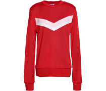Color-block French Terry Sweatshirt Red