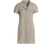 Gauze mini shirt dress