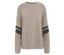 Bead-embellished Cashmere Sweater Mushroom