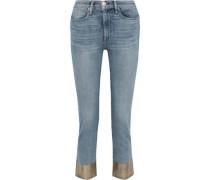 Cropped Coated Mid-rise Slim-leg Jeans Mid Denim  3