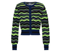 Crochet-knit Cardigan Lime Green