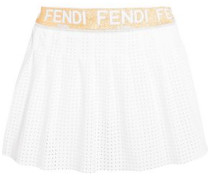 Perforated Jersey Tennis Skirt White