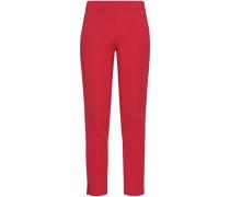 Crepe Slim-leg Pants Coral