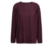 Bead-embellished Cashmere And Silk-blend Sweater Grape