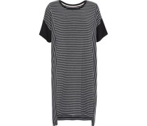 Striped stretch-modal jersey nightdress