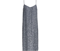 Sequined Woven Dress Anthracite