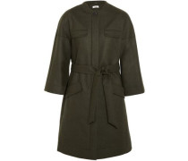 Wool-blend Coat Army Green