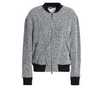 Bouclé-tweed bomber jacket