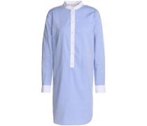 Cotton-poplin mini shirt dress