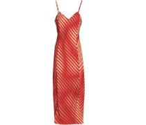 Stretch-silk Slip Dress Red