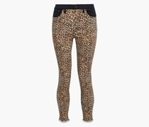 Woman Good Paneled Leopard-print High-rise Skinny Jeans Animal Print