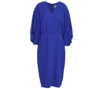 Ruched Stretch-wool Crepe Dress Royal Blue