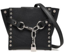 Attica Studded Textured-leather Shoulder Bag Black Size --