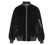 Oversized cotton-velvet bomber jacket