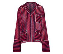 Striped Jacquard Shirt Tomato Red