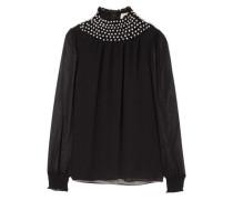 Crystal-embellished Georgette Top Black