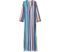 Striped Silk-geogette Maxi Dress Multicolor