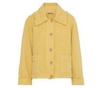 Frayed Cloqué Jacket Mustard Size 1