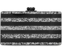 Jean Striped Acrylic Box Clutch Black Size --