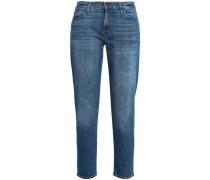 Sadey cropped high-rise slim-leg jeans