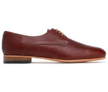 Cali Textured-leather Brogues Merlot