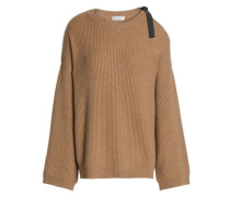 Cutout ribbed cashmere sweater