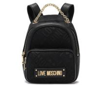 Tess Jacquard-paneled Logo-embellished Faux Leather Backpack Black Size --