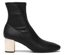 Paloma Faux Leather Ankle Boots Black
