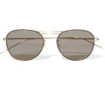 Cade Aviator-style Gold-tone Sunglasses Mushroom Size --