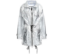 Metallic Shell Hooded Jacket Silver