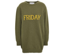 Intarsia Wool And Cashmere-blend Sweater Army Green