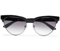 D-frame Silver-tone And Acetate Sunglasses Black Size --