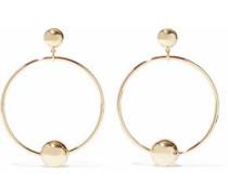 Rani 18-karat Gold-plated Sterling Silver Hoop Earrings Gold Size --