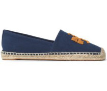 Embroidered Canvas Espadrilles Royal Blue